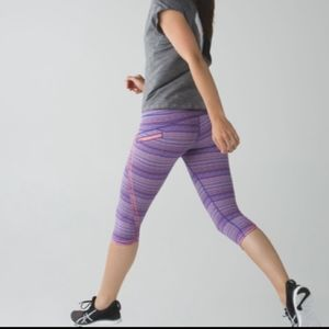 Lululemon athletica run top speed crop legging